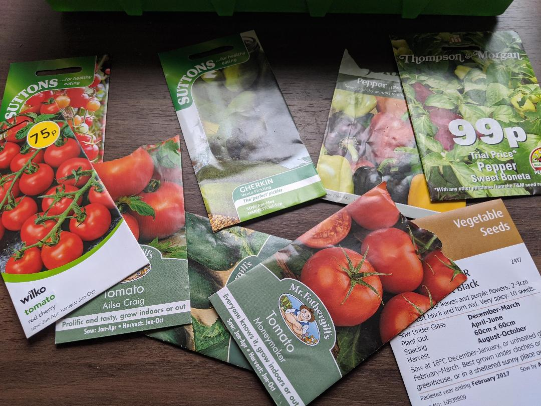 variety of spring seeds to plant